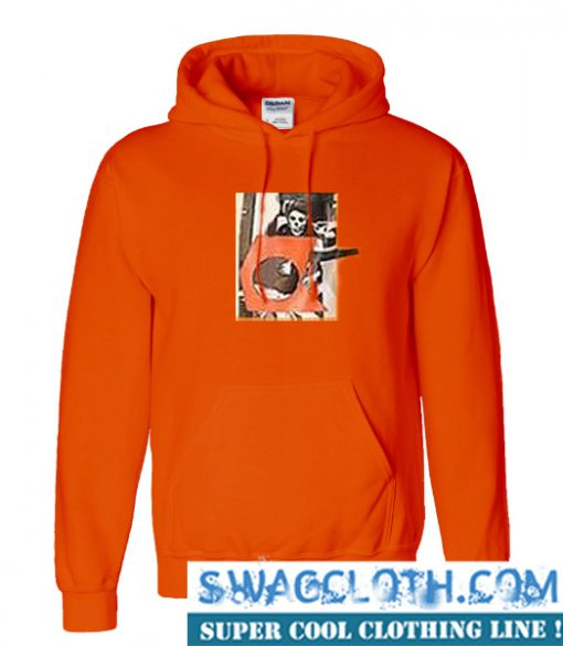 Ethan Dolan Orange Skeleton Hoodie