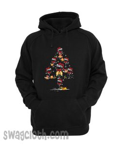 Wine glass christmas tree hoodie