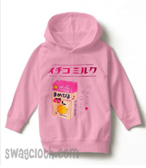 Ichigo Milk New Light Pink Back daily Hoodie