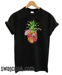 Pineapple Flowers Shirt Women Aloha Hawaii Vintage daily T-SHIRT