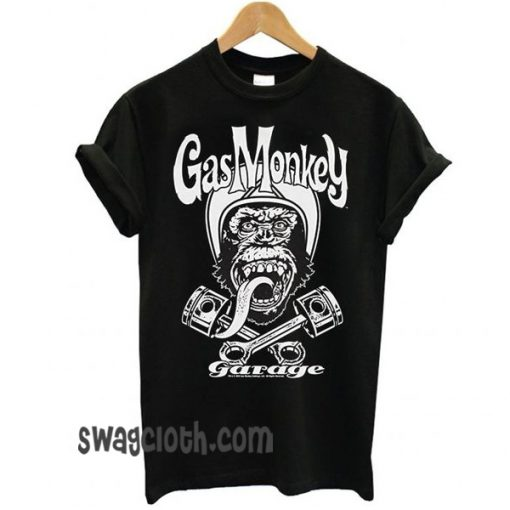 Gas Monkey Garage Officially Licensed Merchandise Biker Monkey daily t shirt