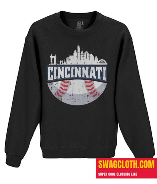 Cincinnati Baseball Skyline Daily Sweatshirt