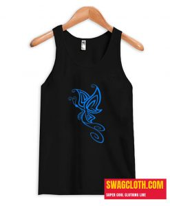 Blue Butterfly Outlines Tank Top