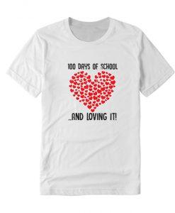 100 Days of School Girls Heart Loving It NL T Shirt